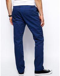 ASOS - Blue Straight Chinos for Men - Lyst