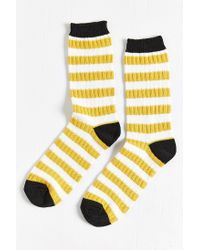 Urban Outfitters | Yellow Sweater Stripe Sock for Men | Lyst