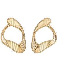 Fernando Jorge | Metallic Stream Lines Loop Earrings | Lyst