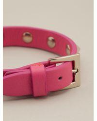 Valentino - Purple Rockstud Bracelet - Lyst