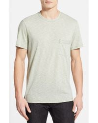 7 For All Mankind | Green Stripe Crewneck T-Shirt for Men | Lyst