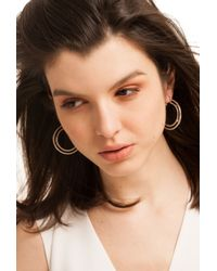 Trina Turk - Metallic Double Hoop Earring - Lyst