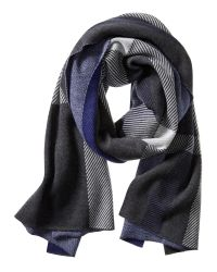 Banana Republic | Gray Plaid Jacquard Blanket Scarf | Lyst