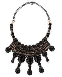 Valentino   Black Embellished Necklace   Lyst