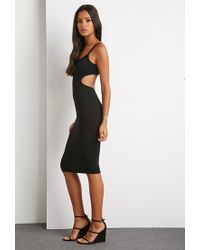 Forever 21 - Black Cutout Back Cami Dress You've Been Added To The Waitlist - Lyst