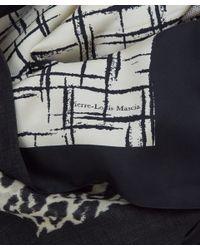 Pierre Louis Mascia   Black and White Multiprint Silkblend Scarf   Lyst
