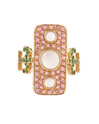 Sabine G | Metallic Navona Topaz, Tsavorite & Yellow-Gold Ring | Lyst