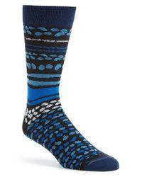 Hook + Albert - Blue 'bermuda' Socks for Men - Lyst