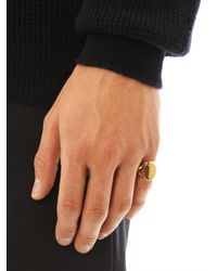Dominic Jones - Metallic Roman Ring for Men - Lyst