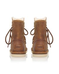 UGG | Brown Lodge Water-Resistant Suede Boots | Lyst