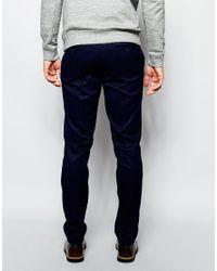 ASOS - Blue Slim Smart Trousers In Navy for Men - Lyst