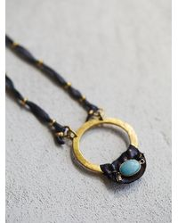 Free People - Blue De Petra Womens Circle Of Life Pendant - Lyst
