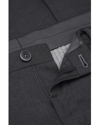BOSS - Gray Slim-fit Business Trousers 'gabron' In New Wool for Men - Lyst