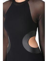 Bebe - Black Side Cutout Bodycon Dress - Lyst