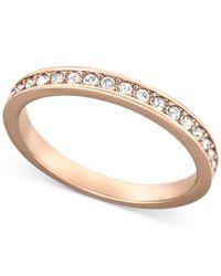 Swarovski | Pink Rose Gold-tone Crystal Pave Ring | Lyst