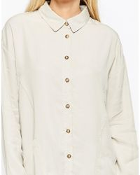 Native Youth | Gray Oversized Tencel Shirt | Lyst