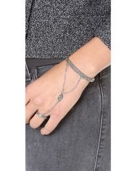 Pamela Love | Metallic Ajna Hand Piece - Antique Silver | Lyst