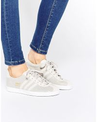 Adidas Originals | Gray Originals Gazelle Grey Trainers | Lyst