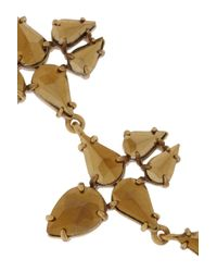 J.Crew - Metallic Radiant Gold-Plated Crystal Necklace - Lyst