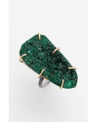 Melissa Joy Manning | Drusy Statement Ring - Assorted Green/ Silver | Lyst