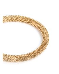 Kenneth Jay Lane - Metallic Graduated Snake-ribbed Collar Necklace - Lyst