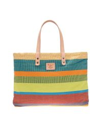 Will Leather Goods | Multicolor House' Reversible Canvas Tote | Lyst
