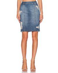 DL1961 - Blue Cleo Skirt - Lyst