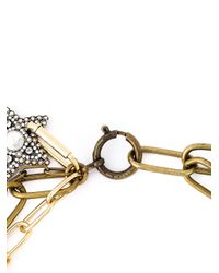 Lanvin | Metallic Star And Moon Pendant Necklace | Lyst