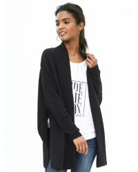 Banana Republic | Gray Split-side Open Cardigan | Lyst
