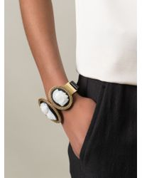 KTZ - Black Cameo Bracelet - Lyst
