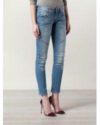 Balmain | Blue Skinny Mid-Rise Stretch-Denim Jeans | Lyst