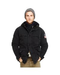 Denim & Supply Ralph Lauren | Black Cotton-blend Down Parka for Men | Lyst