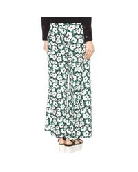 Stella McCartney - Multicolor Printed Wide-leg Trousers - Lyst