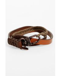 Caputo & Co. | Brown . Leather Wrap Bracelet for Men | Lyst