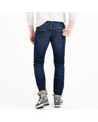 J.Crew | Blue 484 Jean In Dark Worn Wash for Men | Lyst