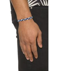 Caputo & Co. - Blue Hand Knotted Triangle Bracelet for Men - Lyst