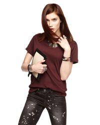 Alexis Bittar | Orange Crystal Baguette Barrel Cuff Bracelet | Lyst