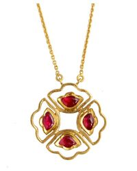 Amrapali - Red Ruby Cutout Pendant Necklace - Lyst