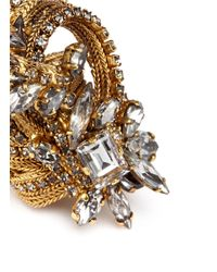 Erickson Beamon | Metallic 'heart Of Gold' Crystal Swirl Ring | Lyst
