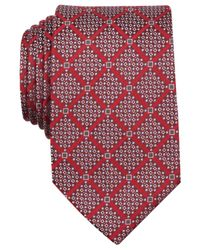 Perry Ellis | Red Boggs Grid Tie for Men | Lyst