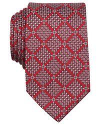 Perry Ellis - Red Boggs Grid Tie for Men - Lyst