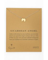 Dogeared | Metallic 'reminder - Guardian Angel' Wings Pendant Necklace | Lyst