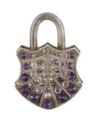 Sevan Biçakci - Purple Sevan Biçakçi Fan-Motif Padlock Charm-Colorless - Lyst