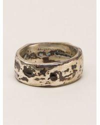 Henson | Metallic Tarnished Ring | Lyst