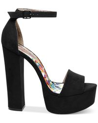 Madden Girl - Black Wallflwr Two-piece Platform Sandals - Lyst
