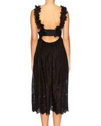 Zimmermann - Black Alchemy Flutter Eyelet-Lace Dress - Lyst
