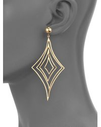 Vaubel | Metallic Geometric Drop Earrings | Lyst