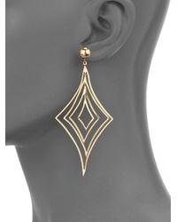 Vaubel - Metallic Geometric Drop Earrings - Lyst