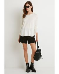 Forever 21 | Natural Vented Sweater | Lyst