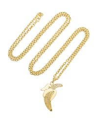 Carolina Bucci | Metallic 18karat Gold Diamond Banana Necklace | Lyst